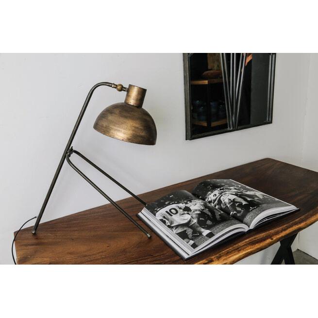 PTMD Bureaulamp 'Nyma', Metaal, 61 x 24.5 x 57cm, kleur Goud