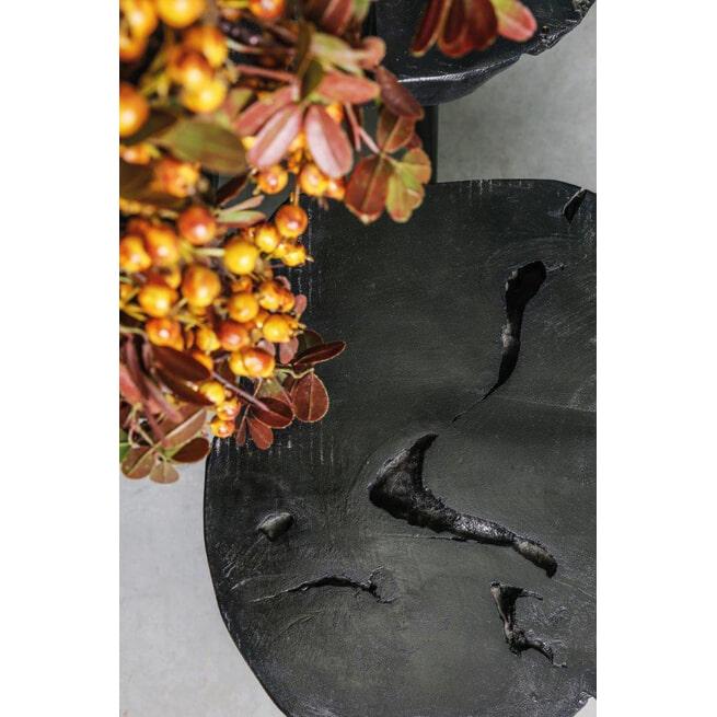 PTMD Bijzettafel 'Maura Black', Teakhout, set van 3, kleur Zwart