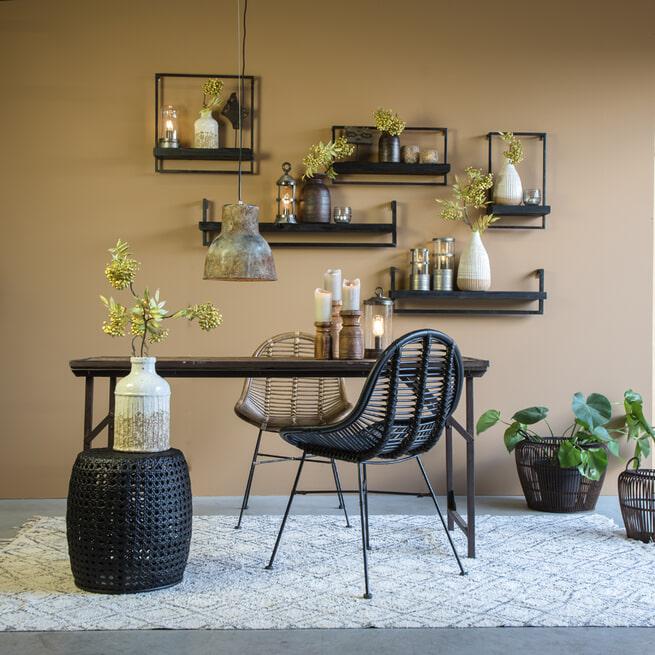 Light & Living Wandplank 'Maddison' kleur Zwart