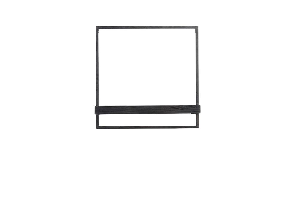 Light & Living Wandplank 'Maddison' 50cm, kleur Zwart