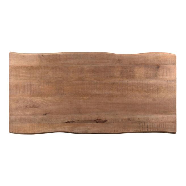 LivingFurn Eettafel 'Lifestyle' Mangohout en staal, 180 x 100cm