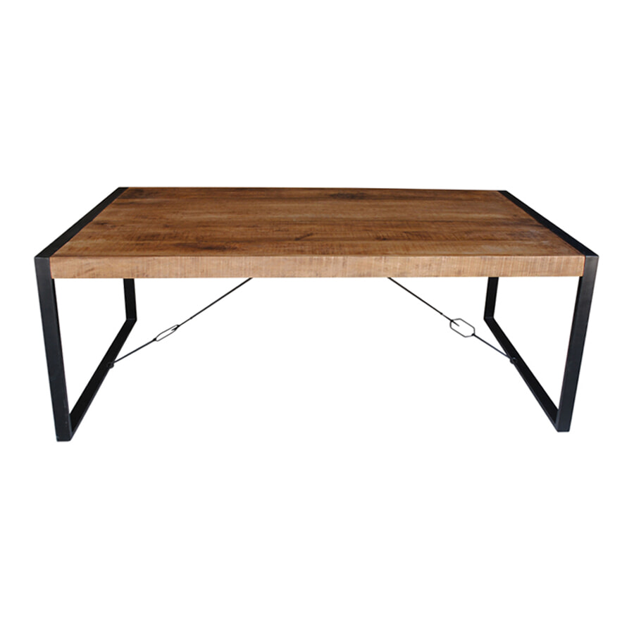 Industri�le Eettafel 'Strong' Mango-hout, 240 x 100cm