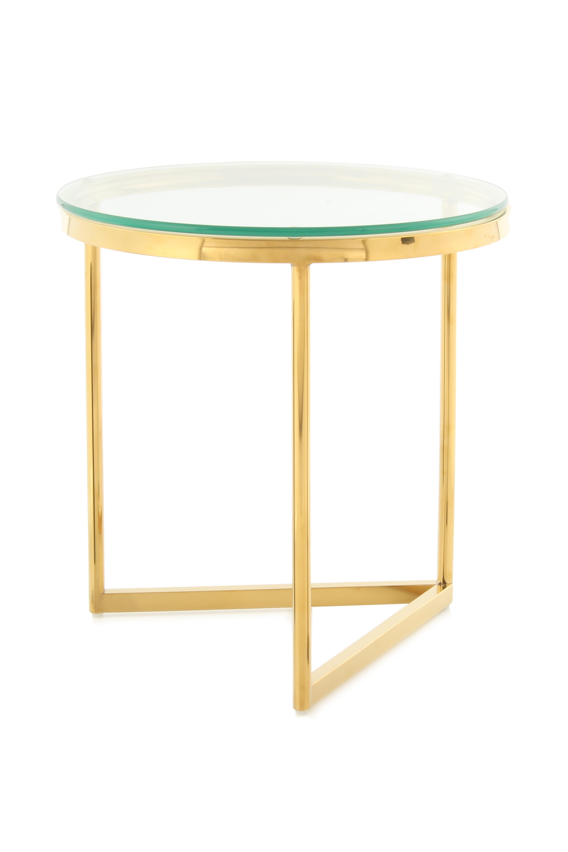 Kayoom Bijzettafel 'Wynona' 50cm, kleur goud
