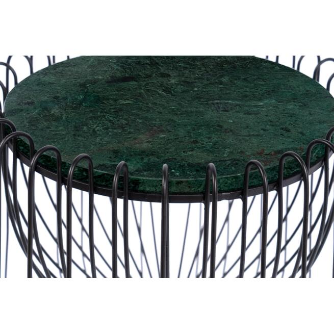 Kayoom Bijzettafel 'Malibu' Marmer en staal