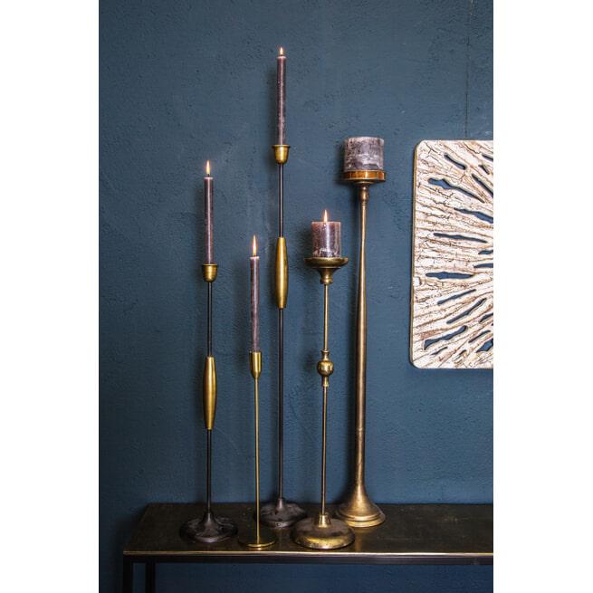PTMD Kandelaar 'Stacey', Metaal, 125 x 14.5 x 14.5cm, kleur Goud
