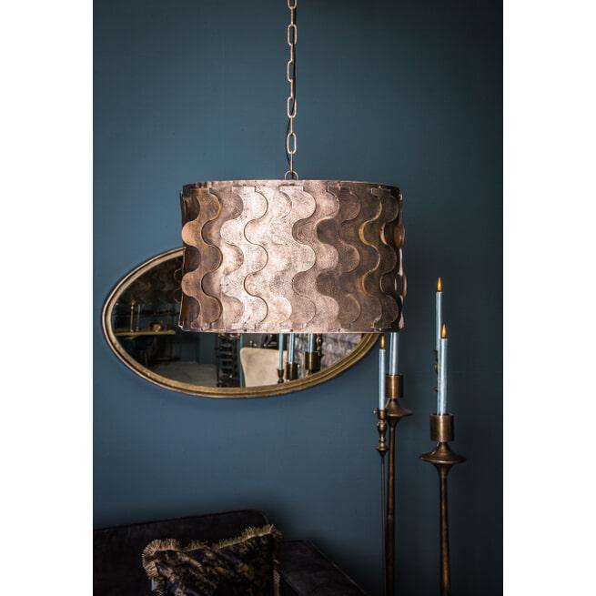 PTMD Hanglamp 'Zyla Brass', Metaal, 44 x 52 x 27xcm, kleur Brons