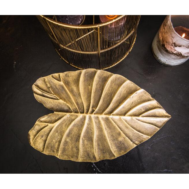 PTMD Schaal 'Jayce', Metaal, 36.5 x 24.5 x 10.5cm, kleur Goud