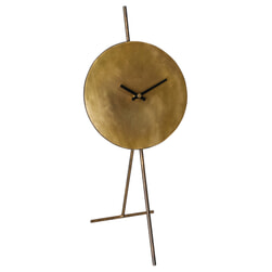 PTMD Klok 'Lennox', Metaal, 42 x 21.5 x 19cm, kleur Messing