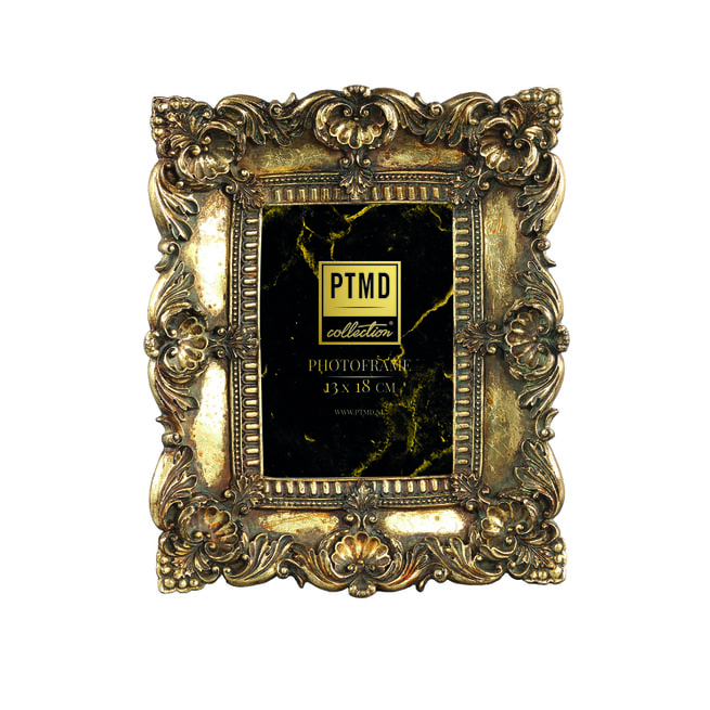 PTMD Fotolijst 'Matteo', Polyresin, 27.5 x 23cm, kleur Goud