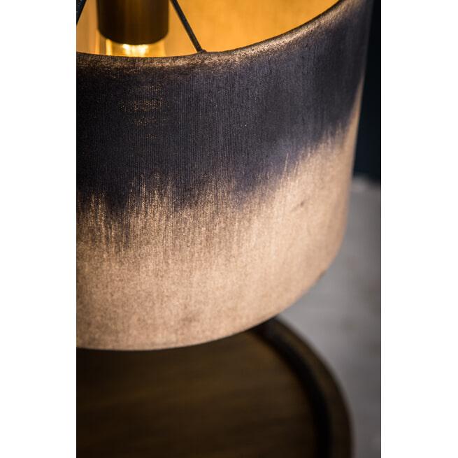 PTMD Tafellamp 'Flames', Velvet, 50 x 30.5 x 30.5cm, kleur Zwart