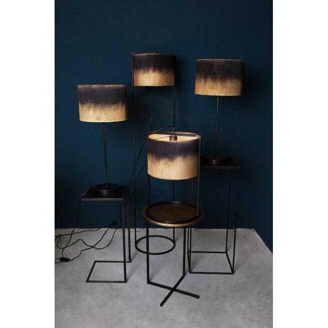 PTMD Vloerlamp 'Flames',Metaal en Textiel, 140 x 30.5 x 30.5cm, kleur Zwart