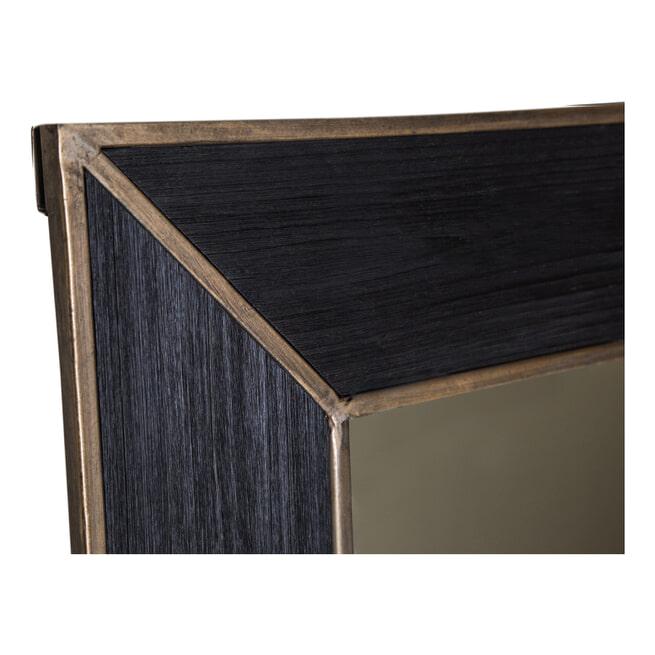 PTMD Spiegel 'Rolf', 150 x 60cm, kleur Zwart