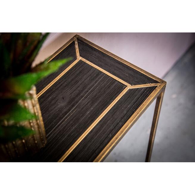PTMD Sidetable 'Alex', 122 x 90,5 x 24cm, kleur Zwart