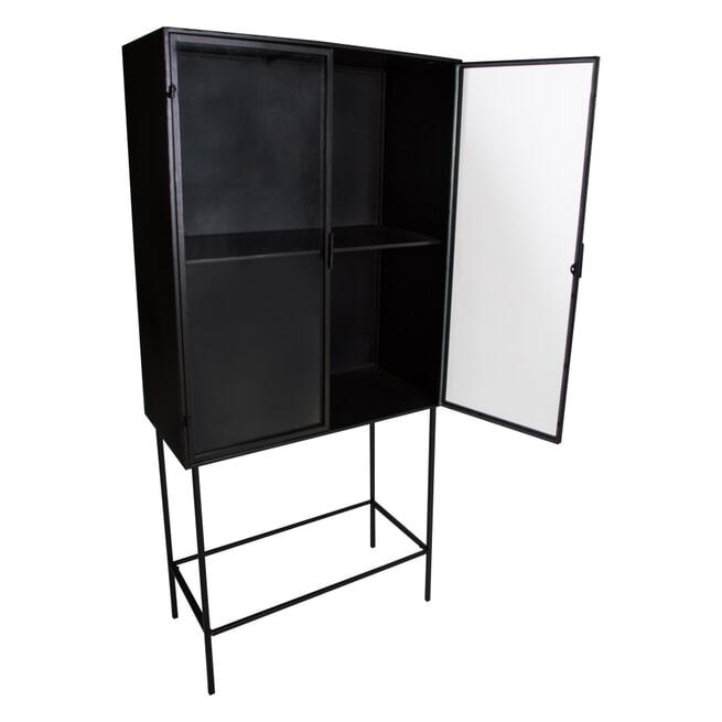 PTMD Opbergkast 'Simple', Metaal, 170.5 x 39.5 x 80cm, kleur Zwart