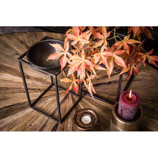 PTMD Plantenbakken 'Nevio', Metaal, 29.5 x 17.5 x 17.5cm, set van 2, kleur Grijs