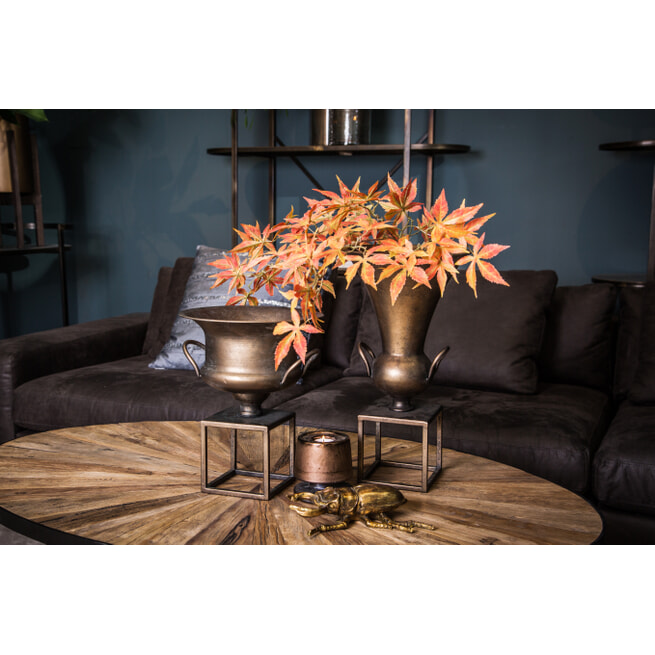 PTMD Plantenstandaard 'Flinz', Metaal, 45 x 25cm, kleur Brass