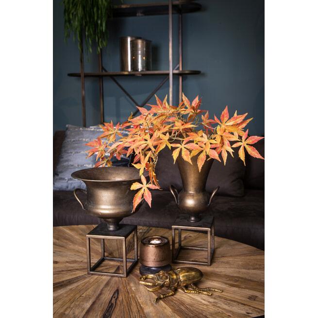 PTMD Plantenstandaard 'Flinz', Metaal, 35 x 28 x 28cm, kleur Brass