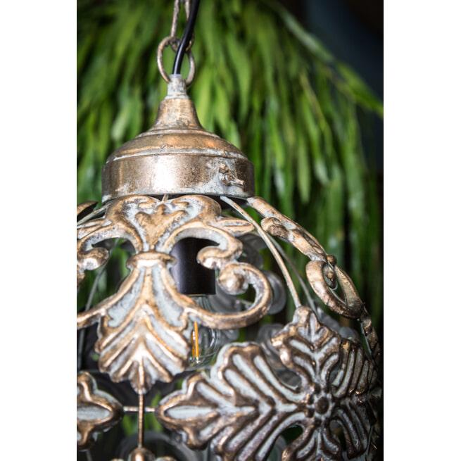PTMD Hanglamp 'Enza', Metaal, 36 x 25.5 x 25.5cm, kleur Goud