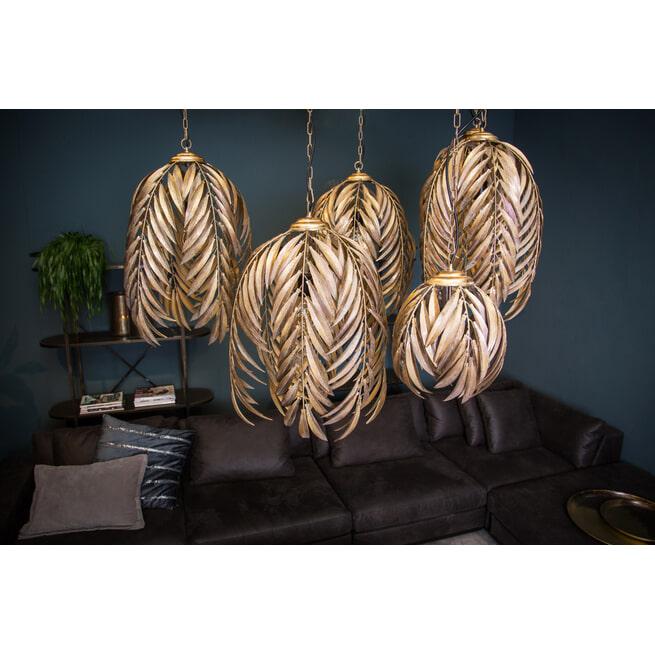 PTMD Hanglamp 'Mea', Metaal, 59 x 41 x 41cm, kleur Goud