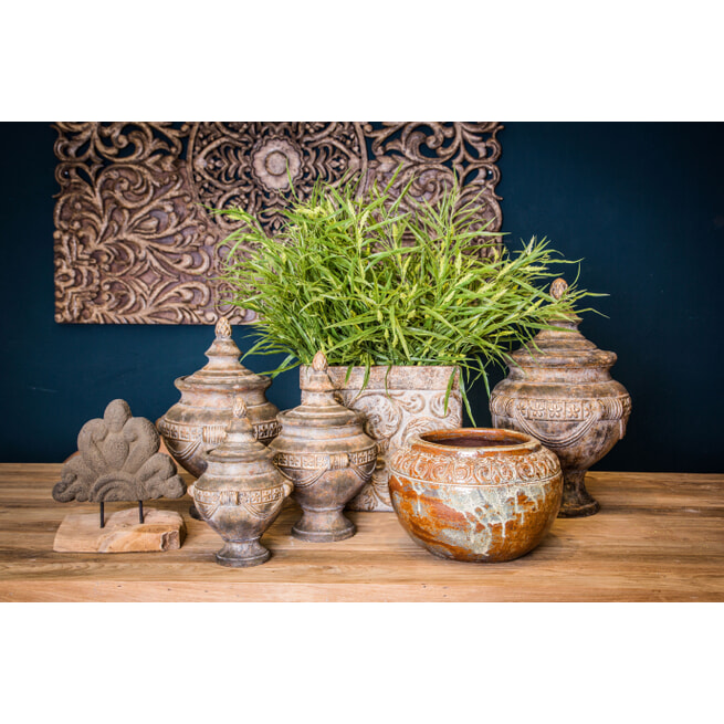 PTMD Decoratie 'Zavier', Cement, 38 x 36 cm, kleur Bruin
