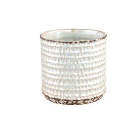 PTMD Pot 'Davita', Keramiek, 15 x 15.5 x 15.5cm, kleur Wit