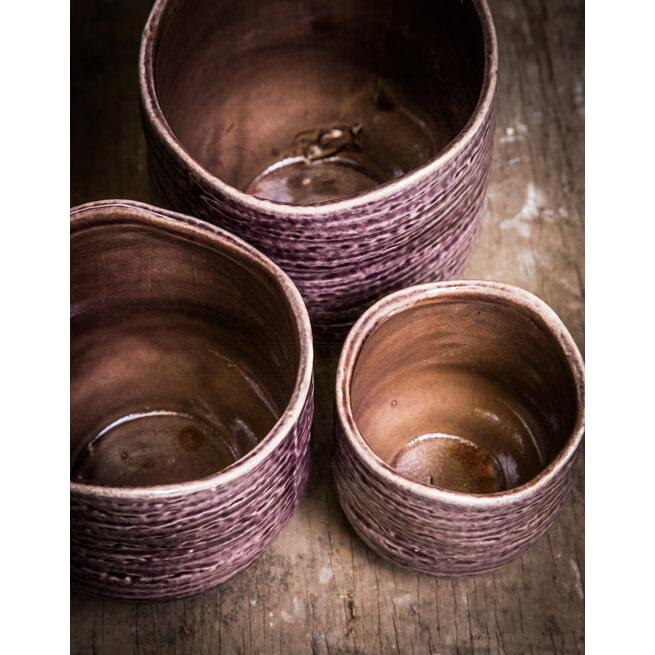 PTMD Pot 'Elvia', Keramiek, 11.5 x 11.5 x 12.5cm, kleur Paars