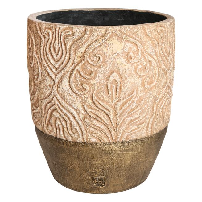 PTMD Pot 'Mita', Keramiek, 49 x 42cm, kleur Naturel