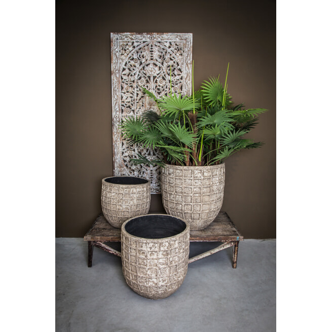 PTMD Pot 'Jitta', Keramiek, 50 x 50cm, kleur Naturel