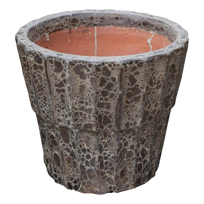 PTMD Pot 'Fayah', Keramiek, 47 x 54cm, kleur Bruin