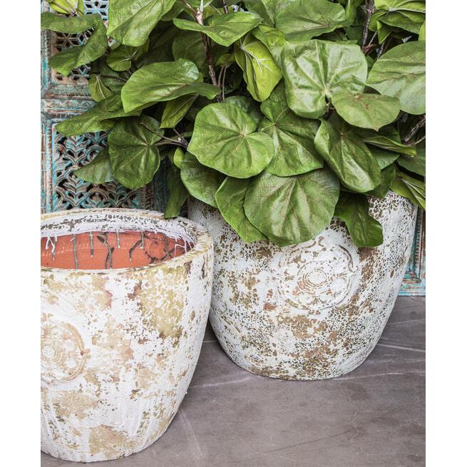 PTMD Pot 'Salome', Keramiek, 48 x 57cm, kleur Crème