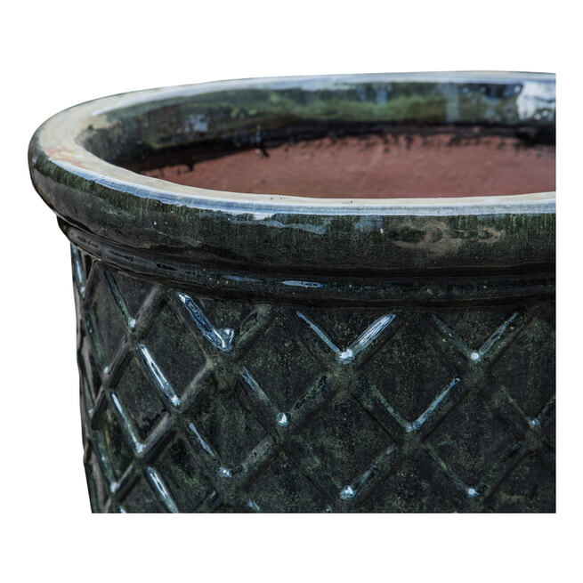 PTMD Pot 'Danny', Keramiek, 57cm, kleur Donker Groen