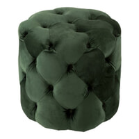 J-Line Poef 'Elmar' Velvet, kleur Groen