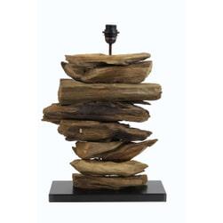 Light & Living Tafellamp 'Fury', hout naturel