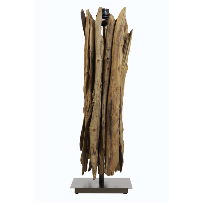Light & Living Tafellamp 'Wary', hout naturel