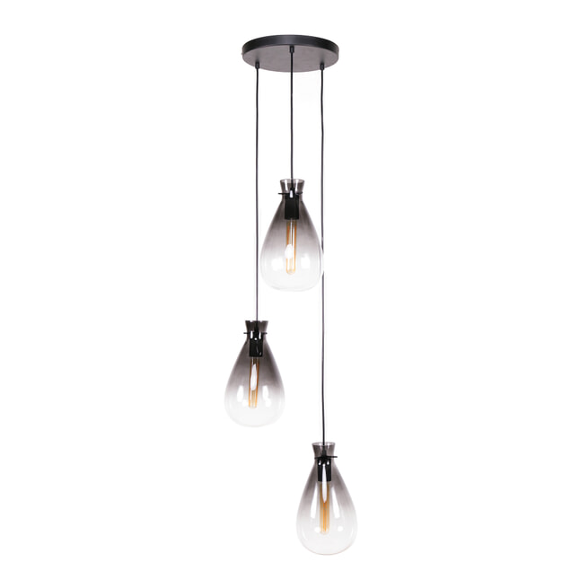 LifestyleFurn Hanglamp 'Nugget Shaded' 3-lamps Ø18cm