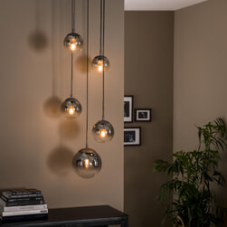 LifestyleFurn Hanglamp 'Bubble Shaded' 5-lamps