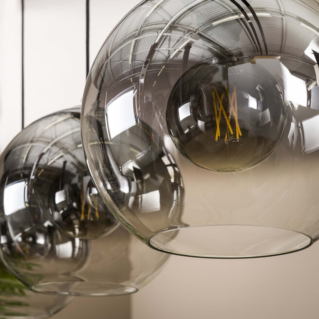 LifestyleFurn Hanglamp 'Bubble Shaded' 3-lamps Ø29cm