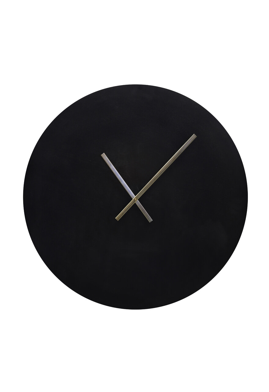 Light & Living Klok 'Licola' 74cm, kleur Zwart