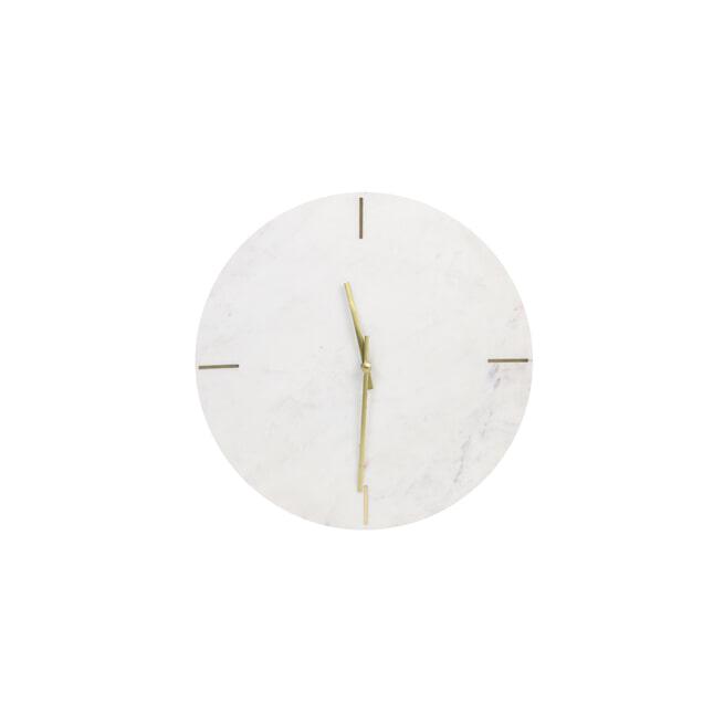 Light & Living Klok 'Moreno' Marmer, kleur Wit