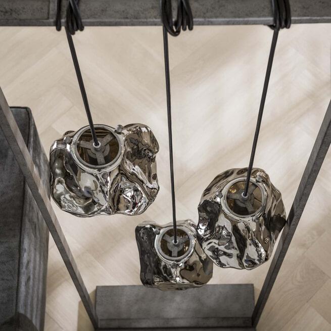 LifestyleFurn Vloerlamp 'Rock' 3-lamps