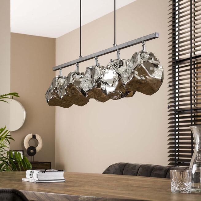 LifestyleFurn Hanglamp 'Rock' 5-lamps