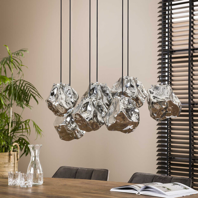 LifestyleFurn Hanglamp 'Rock' 7-lamps