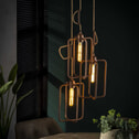 Hanglamp 'Ava' 3-lamps, met jute kabel