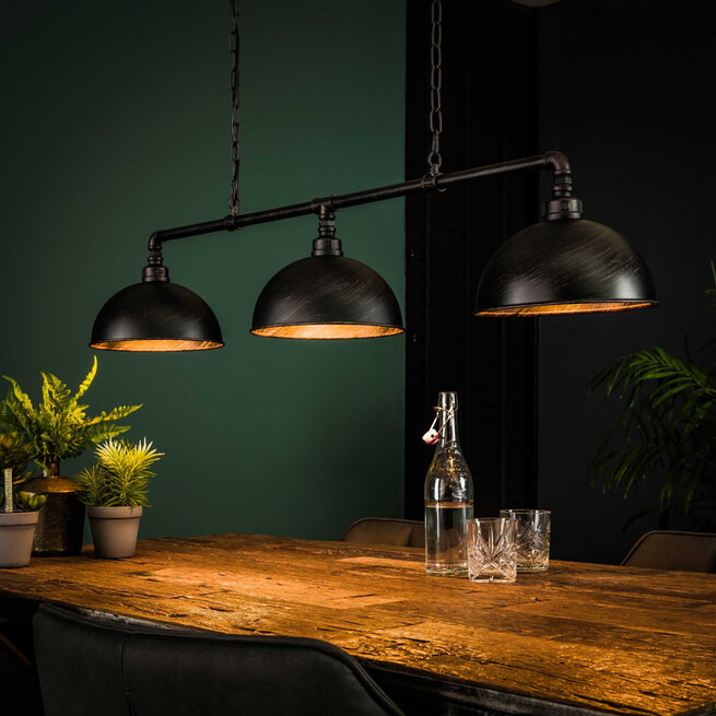 Industriële Hanglamp 'Barrett' 3-lamps