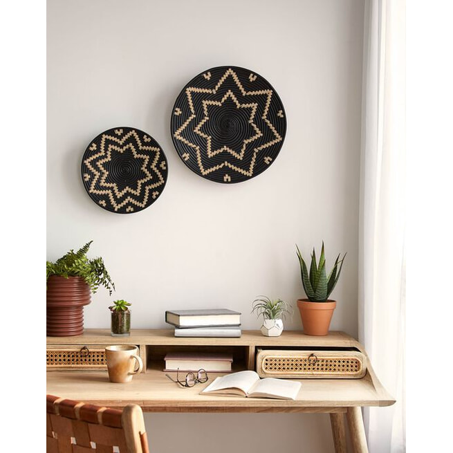 Kave Home Wanddecoratie 'Aurek' Set van 2 stuks