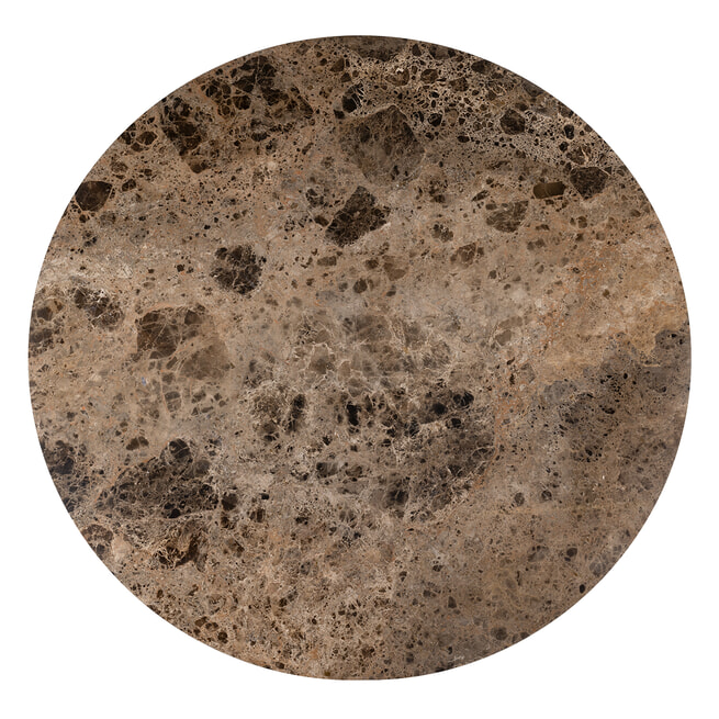 Richmond Ronde Eettafel 'Orion' Marmer en Staal, Ø 140cm