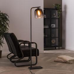 LifestyleFurn Vloerlamp 'Grey Shaded' Ø23cm