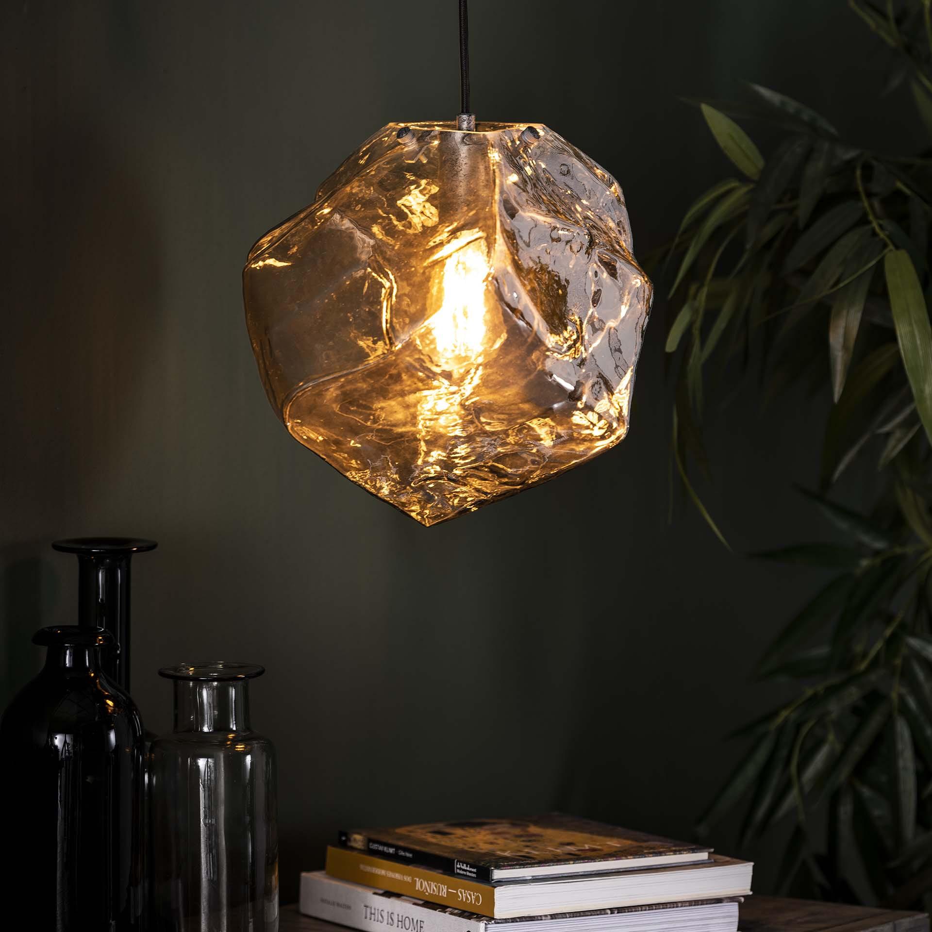 Hanglamp 'Sonia' Chroom, kleur Chromed glas
