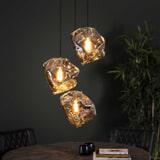 Hanglamp 'Sonia' Chroom, 3-lamps, kleur Chromed glas