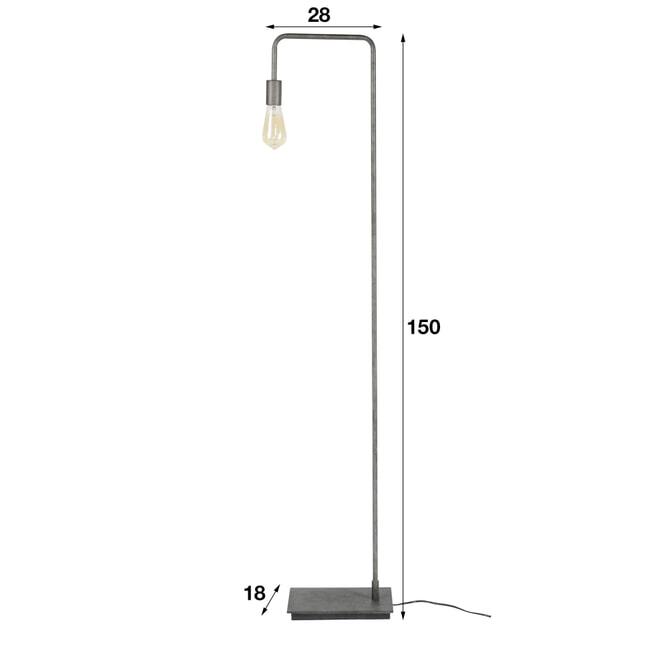Vloerlamp 'Wendy' 150cm